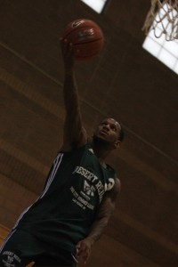 Pierre Jackson lays the ball in during the second week of action at the Desert Reign ProCity League over the summer.