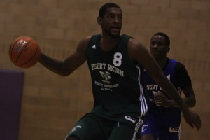 UNLV junior Roscoe Smith attacks the basket during the second week of action at the Desert Reign ProCity League over the summer.